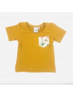 t-shirt enfant manches courtes tropical fait main
