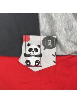 T-shirt à poche enfant panda