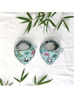 Bandana pandi panda vert